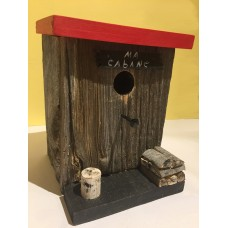 Barn Wood Nesting Box - My Cabin