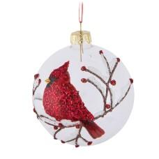 Boule de Noel ronde Cardinal