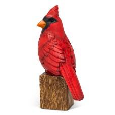 Cardinal sur bois