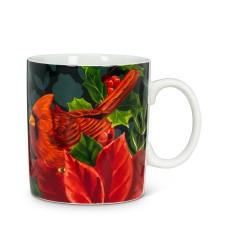 Tasse cardinal et Poinsettia