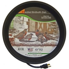 Heated bird bath for 1 inch pole