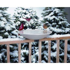 Heated deck bird bath 20''