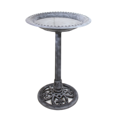 Antique Silver Bird Bath