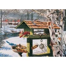 Casse-tête 1000 morceaux - Festin hivernal