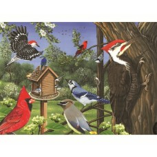 Puzzle 35 pieces - Feeder Birds