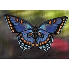 Protège-moustiquaire aimanté - Papillon tigré bleu