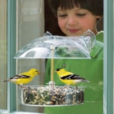 Droll Yankees Window Feeder with Height Adjustable Dome