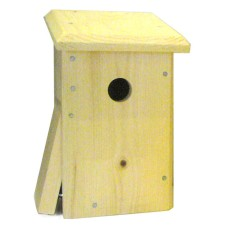Chickadee, nuthatch or Downy Woodpecker nesting box