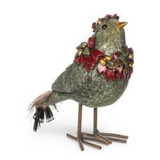 Oiseau festif avec couronne (Vert)