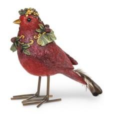 Oiseau festif avec couronne (Rouge)