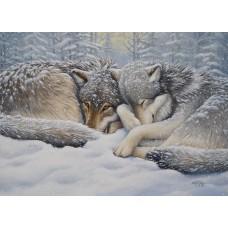 Casse-tête 1000 morceaux - Loups