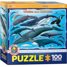 Casse-tête 100 morceaux - Baleines et dauphins